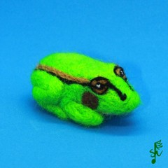 Growling Grass Frog - Handmade Wool Felt Animal