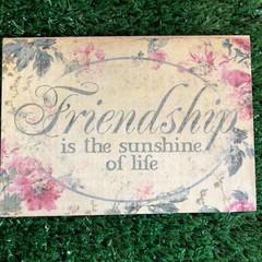 Wooden Friendship Postcard