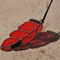 Stained Glass Feather Suncatcher 15cmx5cm