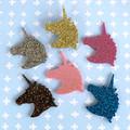 Unicorn Brooch - Glitter Acrylic - Acrylic Brooches