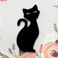 Black Cat Acrylic Brooch - Brooches/Pins - Gift Ideas - Laser Cut Brooches