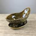 Handmade Cheetah Look Ceramic  Berry Bowl - Colander - Serving Bowl - Gift