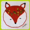 Fox Crochet Floor Rug