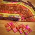 Batik Placemat and Coaster Set