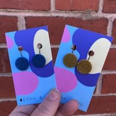 Sparky acrylic mini drop earrings