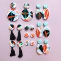 Solar Earrings [Geo-Crush - Black Tassel]