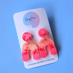 Pink and Orange Coral Garden Arch Dangles