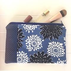 Beautiful blue flowers purse