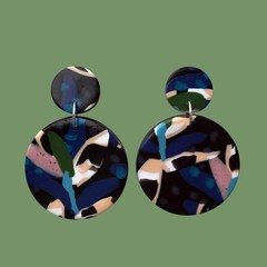 Eclipse Earrings [Midnight Palm]