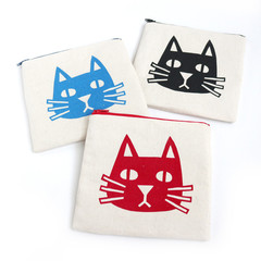 Handmade Zipper Pouch • Cat