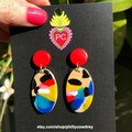 Comet Earrings [Paradiso - Red]