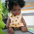 30cm/12inch Baby Doll Crossover Dress & Pants Bumblebee