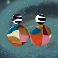 Eclipse Earrings [Odyssey - Zebra]