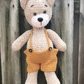 Crochet Teddy Bear,Amigurumi,Stuffed Animal