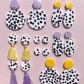 Solar Earrings [Polka Pop - Lilac Tassel]