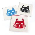 Handmade Zipper Pouch • Cat
