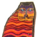 Brooch Oh so cute cat, withpurple tail, ideal as a stocking filler-free postage