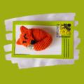Crochet Fox Brooch