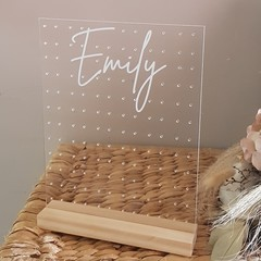 Personalised Acrylic Earring Holder - Large Rectangle - Perfect for Mothers day