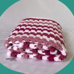Crochet Baby Blanket - Pinks