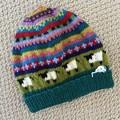 Ladies Sheep Beanie  -hand knitted