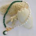 Maria Malachite and Pearl pendant necklace