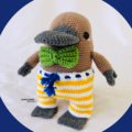 George McPlaytpus Crochet Toy