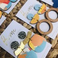 Recycled Beach Blue Sea Timber Dangles | Eco | Mother's Day