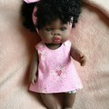30cm/12inch Baby Doll Crossover Dress & Pants Pink/ Unicorn