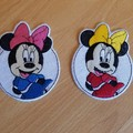 """""""Mice, Ducks and Bows"""" Iron-on Badges."""
