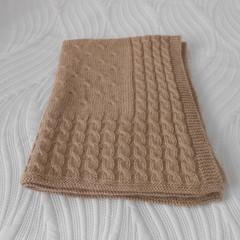 Baby Blanket in Wool/Alpaca