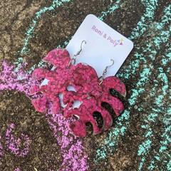 Violet Bioglitter resin dangles