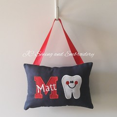 Tooth Fairy Cushion - Personalised - Red Letter