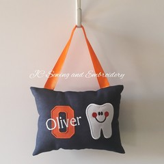 Tooth Fairy Cushion - Personalised - Orange Letter