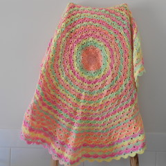 Round Baby Blanket, Acrylic