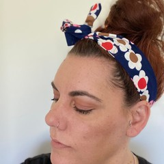 Daisy Boho Wire Headband, Wire Headscarf, Twist Headband