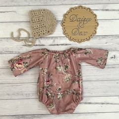 Floral Seaside Romper, Size 0000 000 00 0 or 1 Baby Girls Playsuit