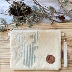 Striped deer pouch