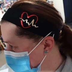 Custom Unisex Headband with Button's for Face Mask/ Ear Savor