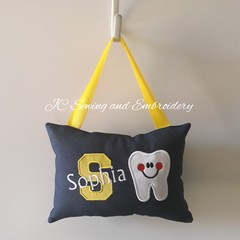 Tooth Fairy Cushion - Personalised - Yellow Letter