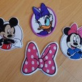 """Mice, Ducks and Bows"" Iron-on Badges."