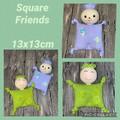 Square friends, stuffed toy, Amigurumi, baby, children, hand made