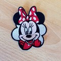 """Miss Mouse Scalloped edge"" Iron-on Badge."