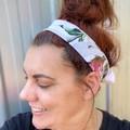 Lilly White Boho Wire Headband, Wire Headscarf, Twist Headband