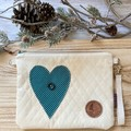 Spotted heart pouch