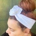 White Women's Adjustable Wire Headband/Headwrap Mothers Day Birthday Gift