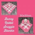 Crochet Bunny Rabbit, Snuggle Blankie, amigurumi, baby, children, hand made