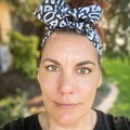 Black & White  Boho Wire Headband, Wire Headscarf, Twist Headband