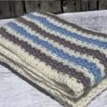 Handmade Wool Baby Blanket / Knee Rug