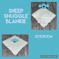 Crochet sheep, snuggle blankie, amigurumi, baby, children, hand made